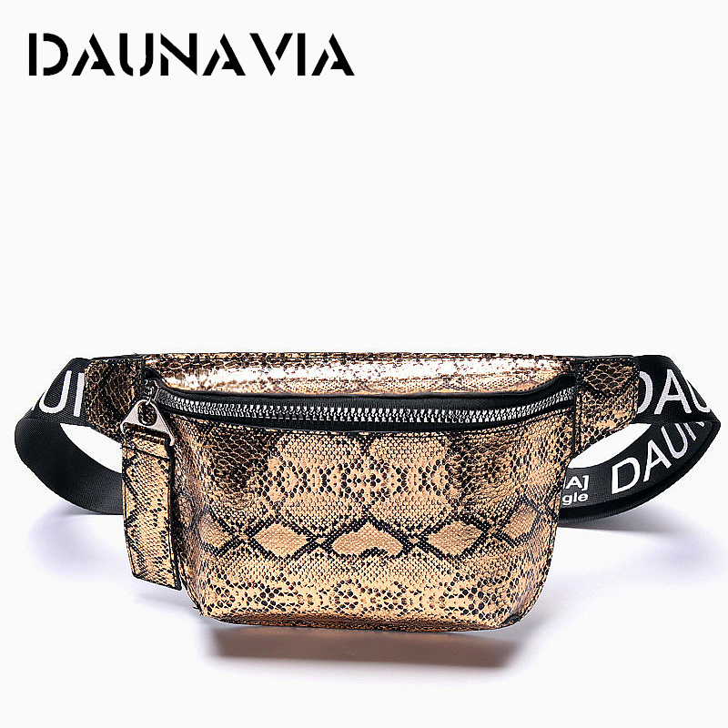 DAUNAVIA Serpentin Waist Bag Lady Fashion Designer Belt Chest Package Mini Diagonal Women's Bag Luxury Belt Package Waist Pack