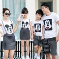 Family Matching Outfit Cartoon Family Clothing Mother and Daughter 2pcs Dress Father and Son Clothes Family Clothing Sets TL11