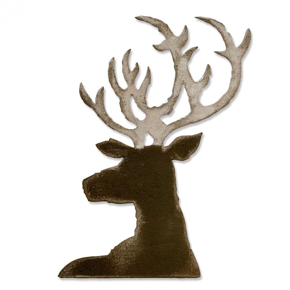 Large Of Deer Head Stencil