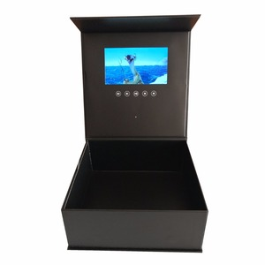 Image 4 - Custom production hardcover box video Brochure 7inch Universal Video Greeting Card 2gb watching booklet box for Advertising