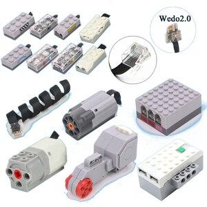 Conector de CABLE de extensión con funciones de energía técnica, cabeza de cristal compatible con LOGOS EV3, WEDO2.0, ROBOTBIT, ROSBOT, bloques de juguete