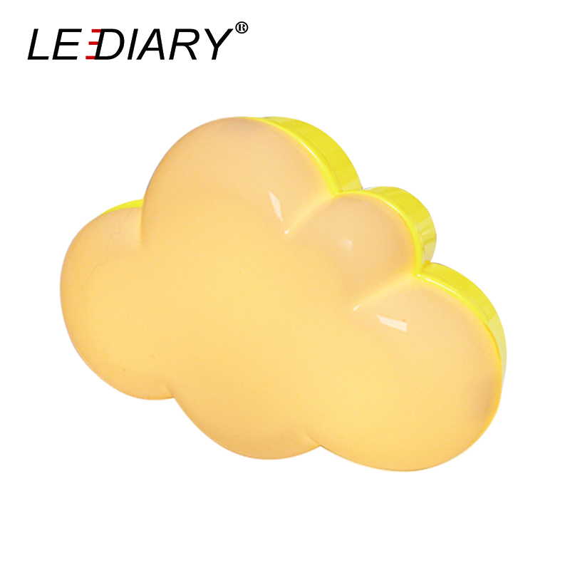 LEDIARY LED Cloud Shaped Night Light With Light Sensor Control Cute Baby Night Light Baby Bedside US/EU Plug For Decoration/Gift ...