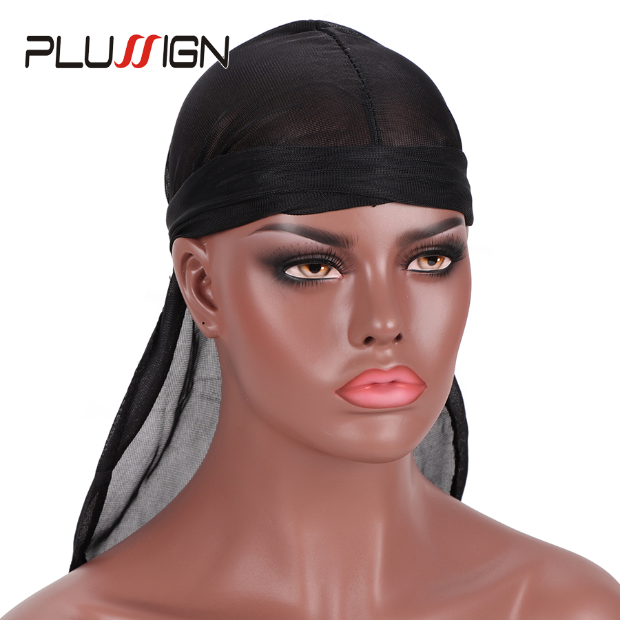 Hairnets Efficient Plussign Silky Durag Waves Hair Loss Chemo Beanie Headwrap Pirate Cap Muslim Turban 1pcs Thin Cap For Summer Mens Durags Hair Extensions & Wigs