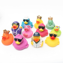 Baby Bath Toys 11pcs Soft Rubber Duck Animals Car Boat Kids Water Toys Squeeze Sound Spraying Beach Bathroom Toys For Children