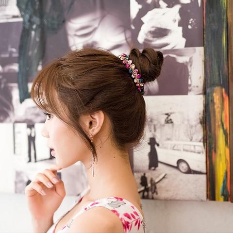 Женская заколка для волос с кристаллами