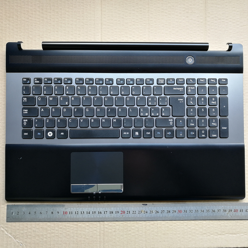Italy layout new laptop keyboard with touchpad palmrest for Samsung RC730 RC728 17.3