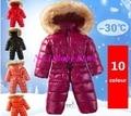 ¡ Promoción! 2016 mamelucos del bebé, ropa de recién nacido de la marca de invierno mameluco ropa de bebé traje para la nieve espesar abajo mamelucos ropa de abrigo y abrigos