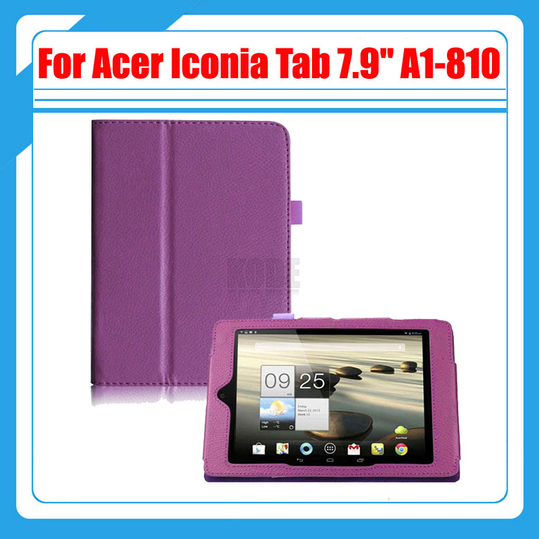 High quality Pu Leather Stand Tablet Cover Case For Acer Iconia Tab 7.9 A1 810 A1-810 81251G01NW + Stylus and protective pu leather case for acer iconia tab a510 white