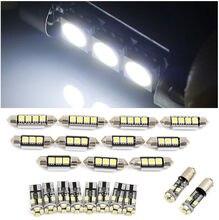 21pcs Car LED Interior Lights For BMW E46 Sedan Coupe M3 1999-2005 Canbus Light Kit &Set