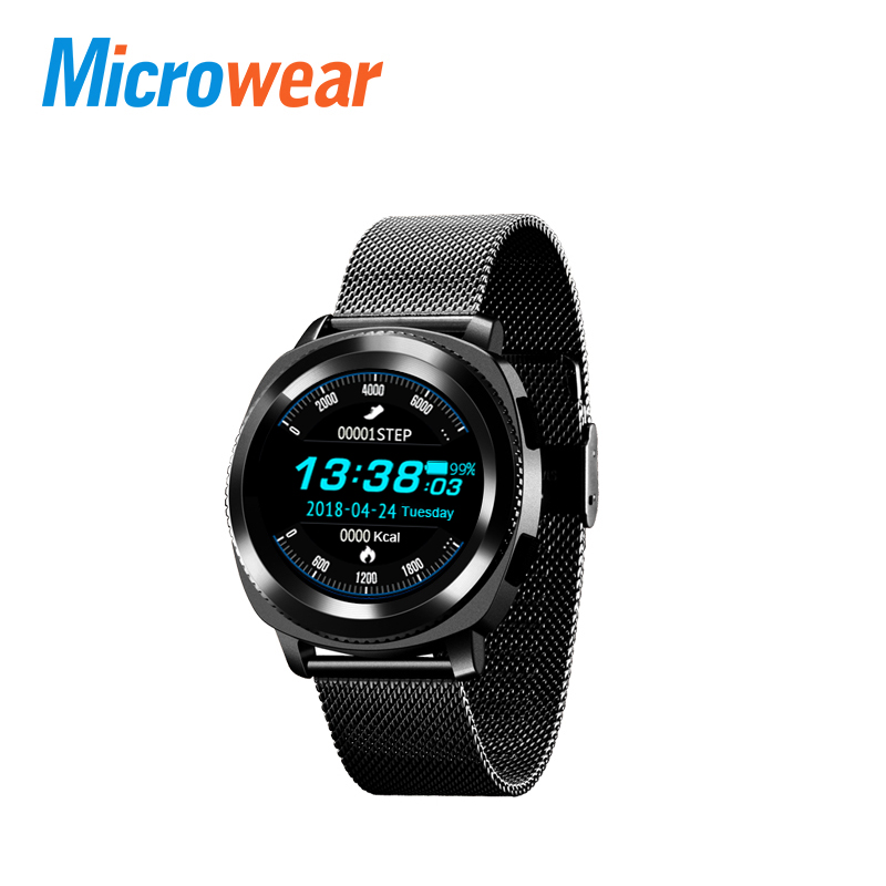 Microwear L2 Sports Smart Watch 1 3 Inch MTK2502 Heart Rate Tracker smartwatch Sleep Monitor Pedometer IP68 Water Resistant in Smart Watches from Consumer Electronics