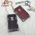 New style fashion pu leather rivet stone pattern mini chain shoulder bag ladies handbag purse crossbody mini messenger bag