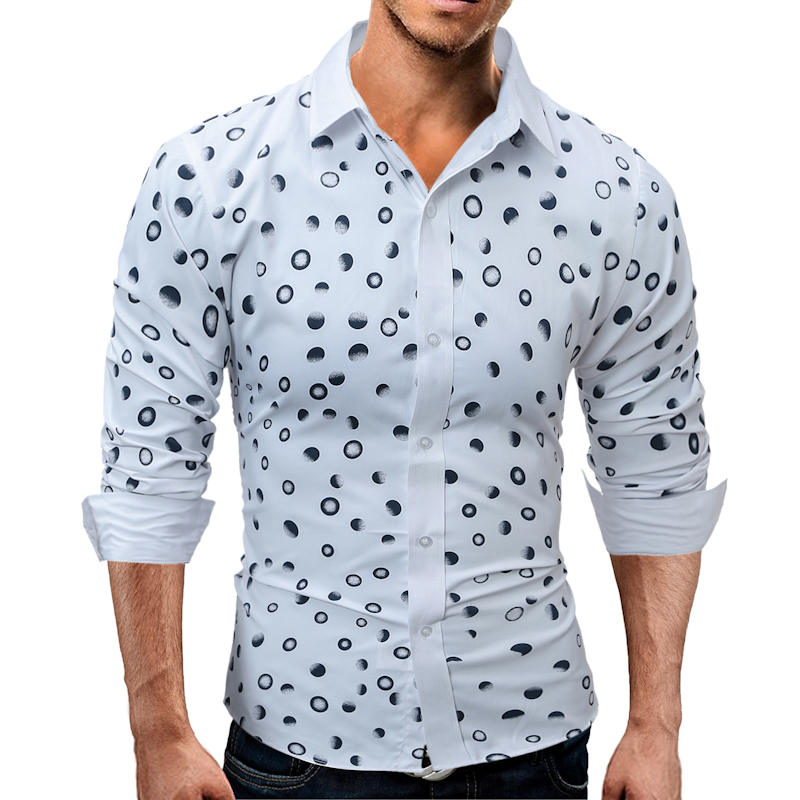 Online Get Cheap Mens Blue Polka Dot Dress Shirt -Aliexpress.com ...