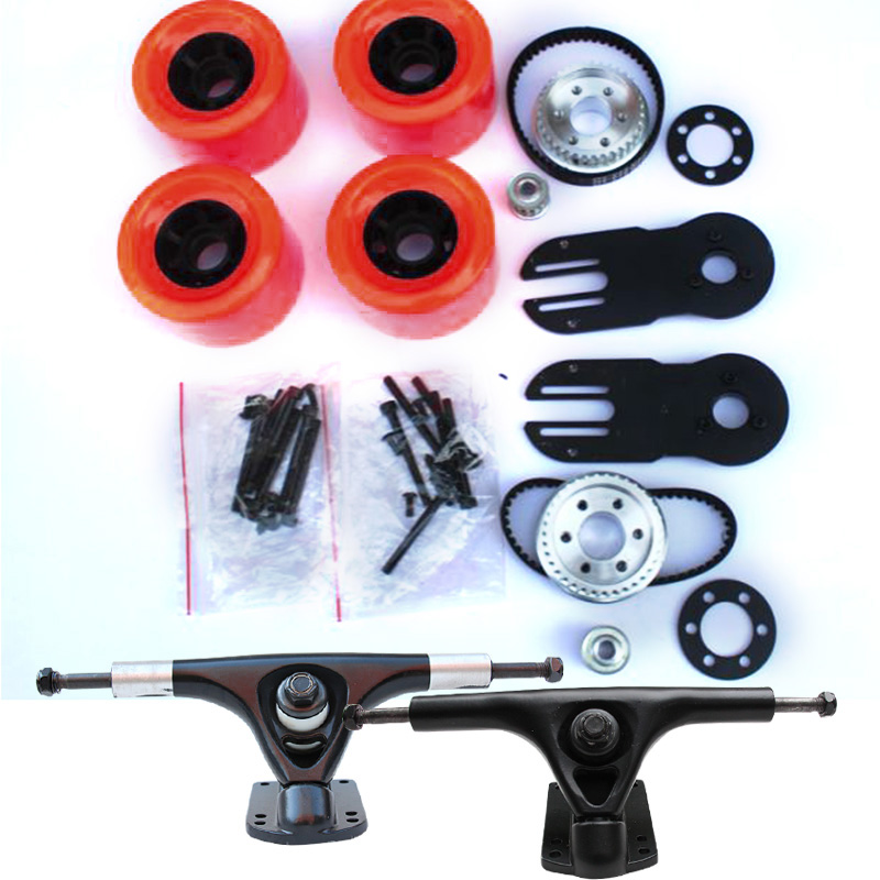 83mm Hot wheels 2021 Electric skateboard kit Double or Single Drive Truck with 5M Pully Gear 270mm Belt Diy E-Skateboard Parts