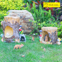Outdoor decoration resin tree stump decorations resin craft garden decoration home decor