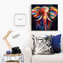 Colorful Abstract Elephant Canvas Knife Painting Printed On Animal Wall Art Picture for Living Room Decor Drop ship