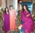 Ocasión Formal de Cuello alto Abalorios en la parte superior de la gasa de Dubai Arabia 2016 Kim Kardashian Kanfan Estilo Vestidos de noche 0635