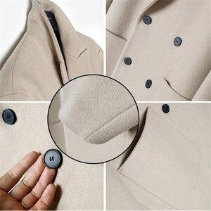Image 4 - 2019 neue Männer Windjacke Herren Graben Mantel Männer Mantel Lässig Jacke Mode Marke Kleidung männer Wolle Graben Mantel Lange für männer