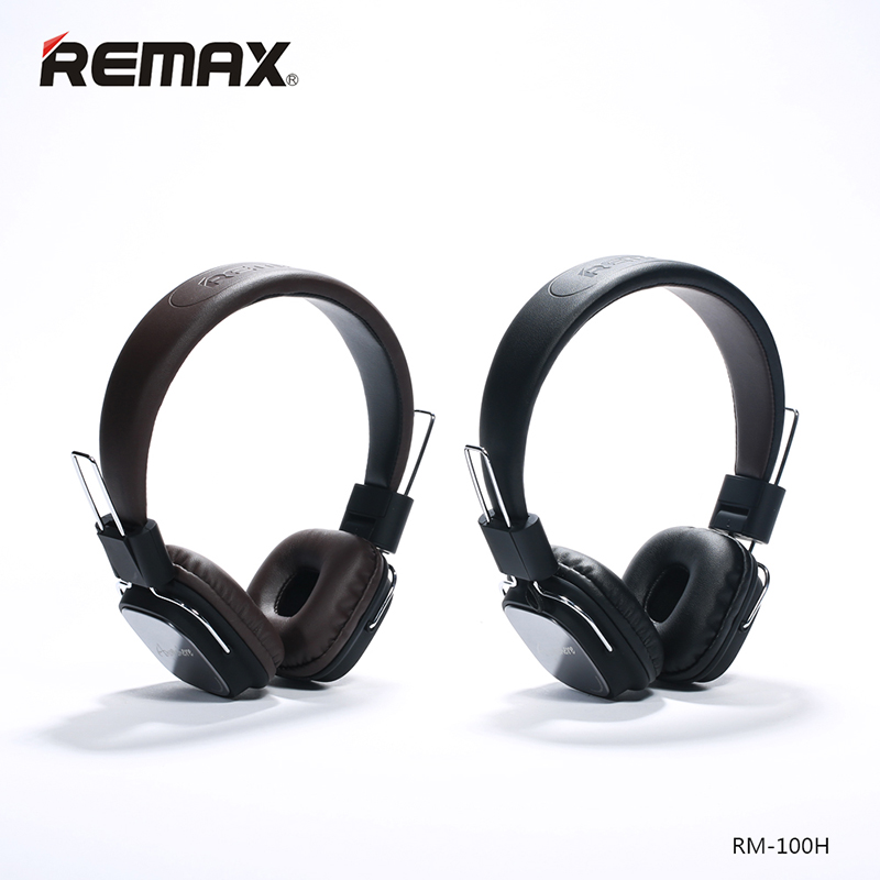 Remax 100H Wired Headphones with Microphone Foldable HIFI over ear Headset Earphone For Iphone 8 Xiaomi mi 6 Huawei Mobile Phone