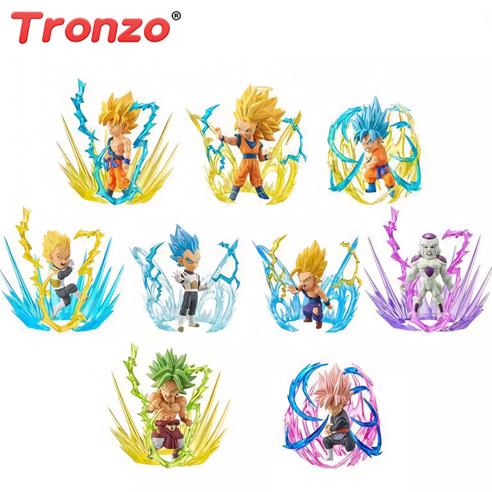 Tronzo 9 pièces/ensemble Dragon Ball WCF rafale figurine Broly Goku végéta Freeza Zamasu PVC figurine modèle Collection figurales