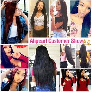 Image 5 - AliPearl שיער ישר שיער טבעי חבילות 4 יחידות ערב ברזילאי שיער Weave חבילות צבע טבעי 8 30 inches רמי שיער תוספות