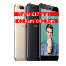 Global Firmware ZTE Nubia Z17 Mini 6GB RAM 64GB ROM Mobile Phone Snapdragon Cell