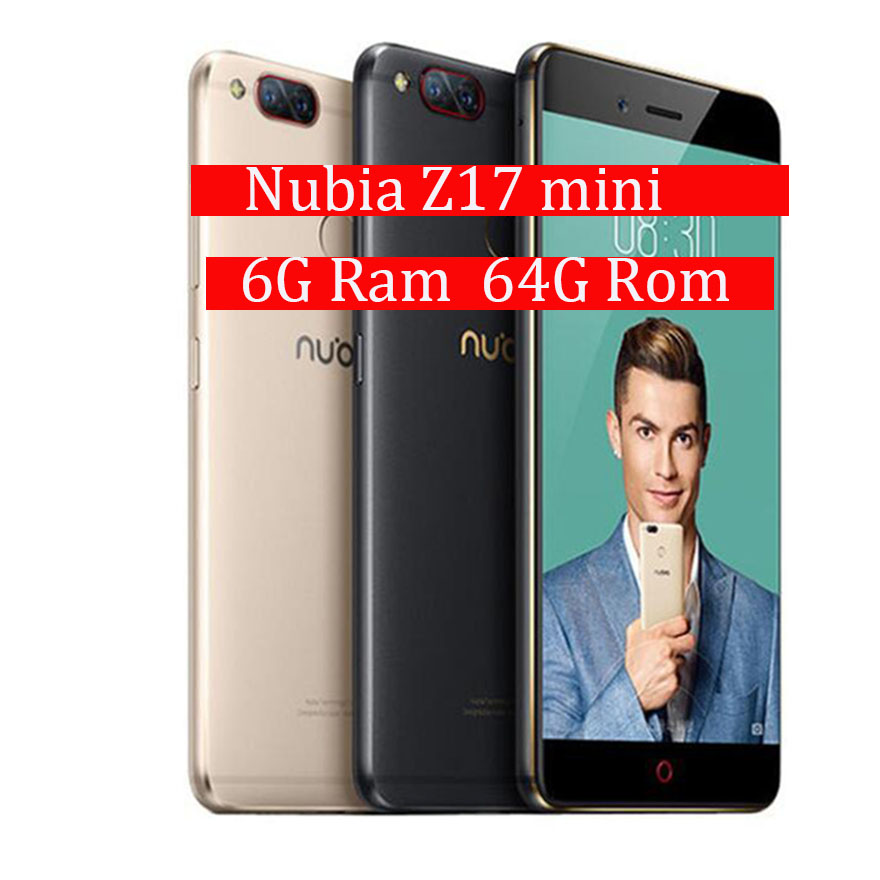 Global Firmware ZTE Nubia Z17 Mini 6GB RAM 64GB ROM Mobile Phone Snapdragon Cellphone Dual Camera FDD LTE 4G Support NFC OTA