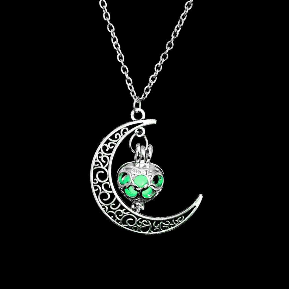 Vienkim Neo-Gothic Luminous Pendant Necklace Women Charm Moon In The Dark Glowing Stone Necklaces For Jewelry Christmas Gifts 17