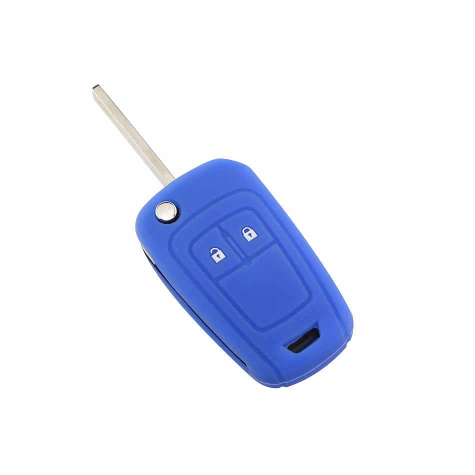 Etui clés à distance de voiture en Silicone à 2 boutons pour Chevrolet Chevry Cruze berline Hatchback Malibu Trax Aveo 2009-2014 accessoires