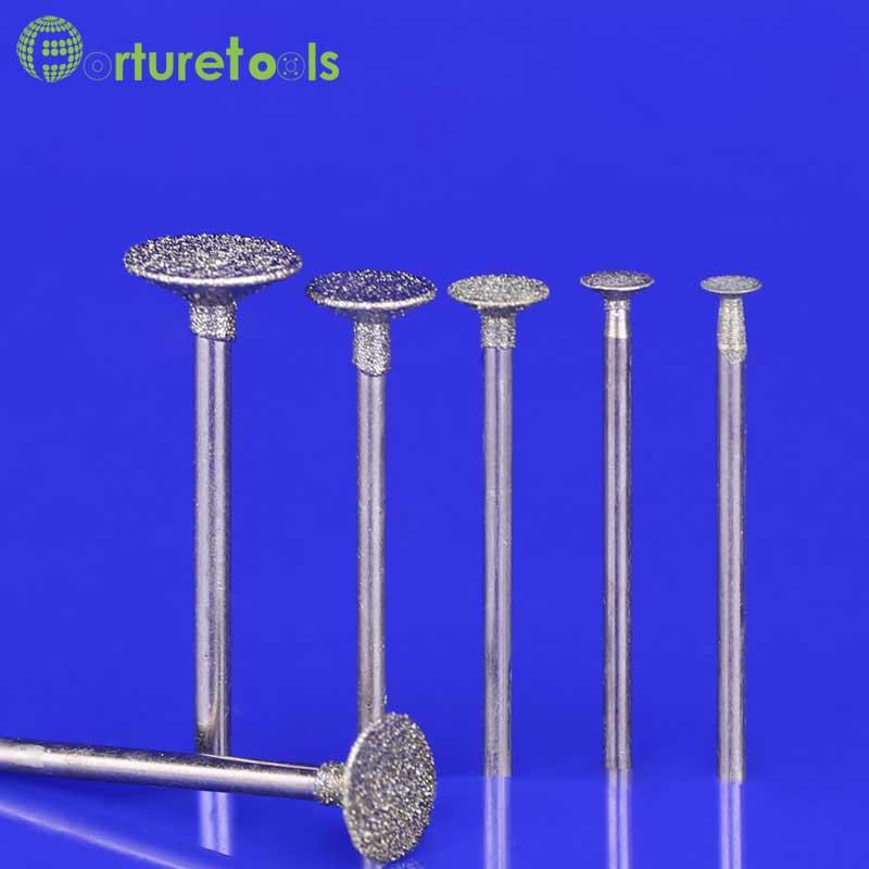 50st diamantmonterade punkt dremel roterande verktygsmonterade hjul - Slipande verktyg - Foto 1
