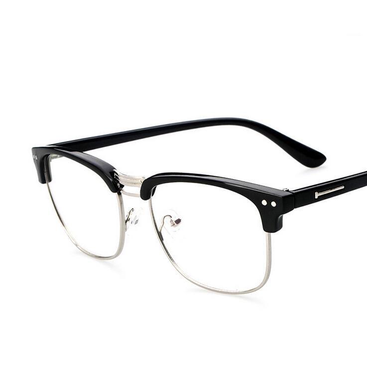 39ea4096900 Aliexpress.com   Buy Metal Half Frame Glasses Frame Retro Woman Men Reading  Glass UV Protection Clear Lens Computer Eyeglass Gold Frames Eyewear from  ...