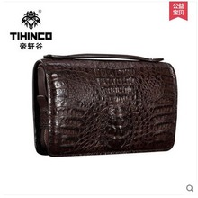 tihinco real crocodile Men bags business hand caught bag large capacity men clutches  authentic briefcase leather men bags