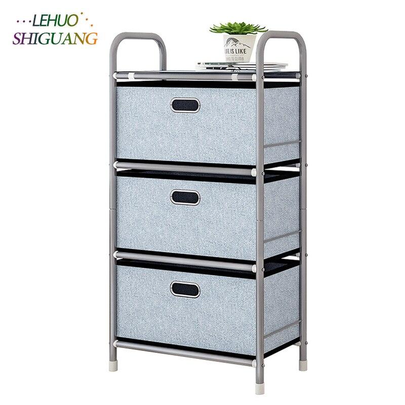 Multilayer drawer Household goods Iron Organizer box storage Shelf simple bookshelf Home Living Room Furniture