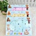 7 Peças/set Inverno Presente Do Bebê Recém-nascido Definir Conjunto de Manga Longa o-pescoço Grosso Meninas Quentes Do Bebê Roupas Bebê Recém-nascido Menino Infantil roupa interior