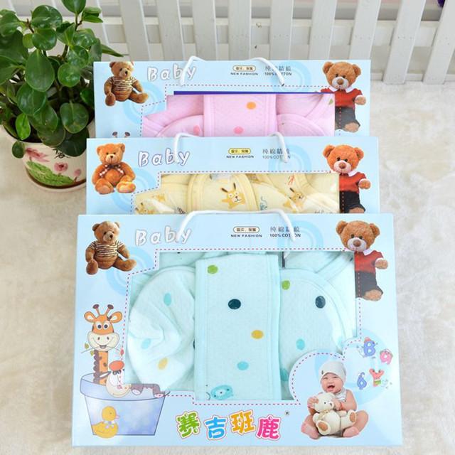 7 Unid/set Invierno Bebé Set de Regalo Recién Nacido de Manga Larga o-cuello Grueso Warm Baby Girls Ropa de Bebé Recién Nacido Bebé ropa interior