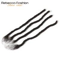 Rebecca Реми афро кудрявый вьющиеся дреды вязаные крючком Косы 100% натуральные волосы Jumbo страх прическа ручной работы дреды плетение волос