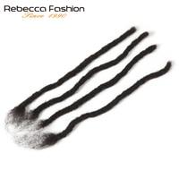 Rebecca Remy Afro Kinky Curly Dreadlocks Crochet Braids 100% Human Hair Jumbo Dread Hairstyle Hand Made Dreadlocks Braiding Hair