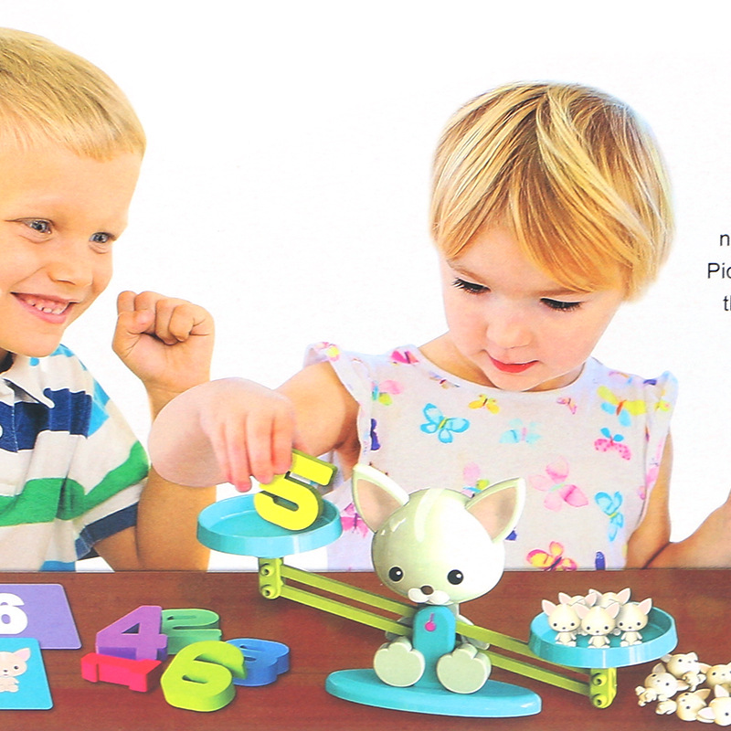Kid 39 s educational science puppy digital balance early education digital addition and subtraction balance game toys gifts in Math Toys from Toys amp Hobbies