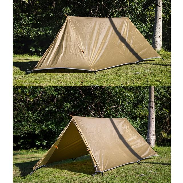 OneTigris アンカレッジ防水タープ太陽の避難所コンパクト多彩な丈夫なバックパッキングビーチテント日よけ