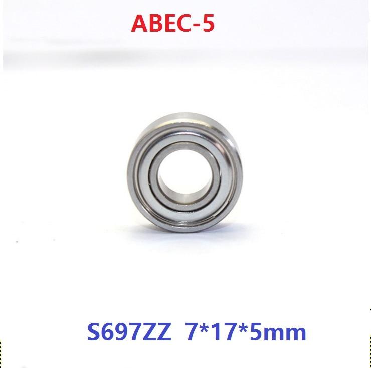 Metal Double Shielded Ball Bearing 697Z 7*17*5 7x17x5 mm 697ZZ 10 PCS