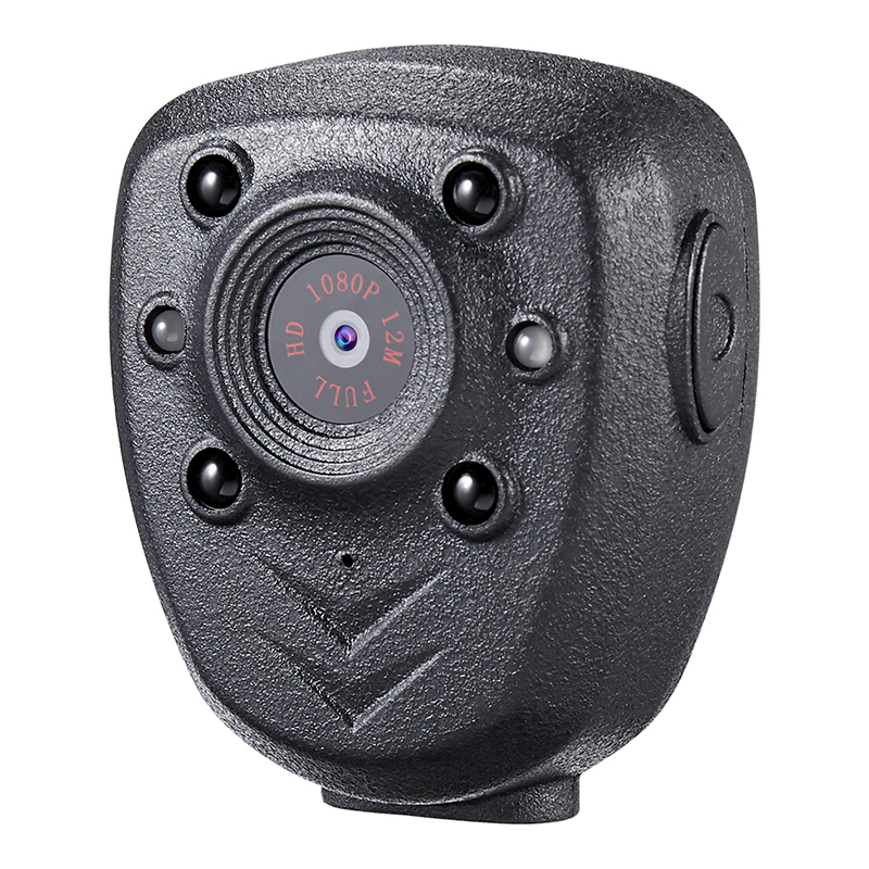 HD 1080P полицейская тела нагрудные носить видео Камера DVR ИК Ночное Видимый светодиодный светильник Cam 4 часа Запись Цифровой Mini DV Регистраторы голос-1 шт - Цвет: Black