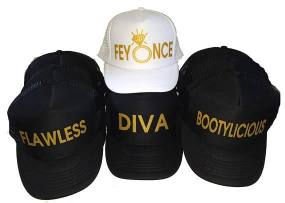 custom Feyonce Beyonce Sayings wedding bridesmaid Bachelorette Mesh Trucker  Snapback trucker hats caps party favors f8f075a1336
