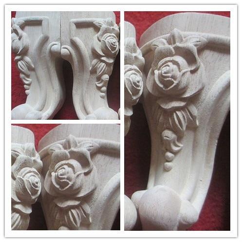 Wood Carving Furniture Legs Cabinet Legs Chair Leg Home Accessories Fashion  Wood Sculpture Rose Flower