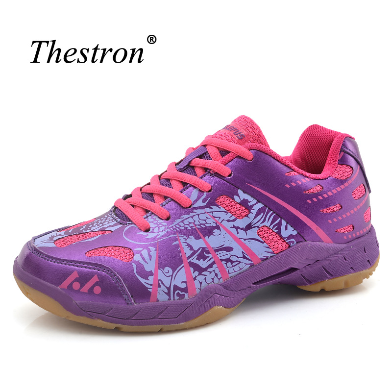 Couples Badminton Shoes Purple White Woman Shoes for Table Tennis Spring Summer Man Indoor Sport Shoes Light Badminton Sneakers professional cushioning volleyball shoes unisex light sports breathable shoe women sneakers badminton table tennis shoes g364