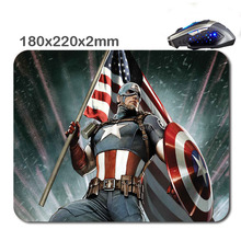 HOT SALES Custom Antiskid 3 D Captain America Flag 220 X180x2mm Office Accessory Tablet And Mini Pc Mouse Pad As  Gift