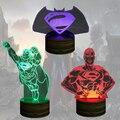 Frete Grátis 1 Piece Superhero Superman Clark Kent Voando Cores Mudando A Luz Da Noite Handmade 3D Ilusão Bulbificação Lâmpada Presente Do Miúdo