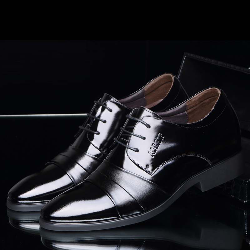 Men's Leather Shoes 2018 New England Leather Shoes Business Leather - Men's Shoes - Photo 4