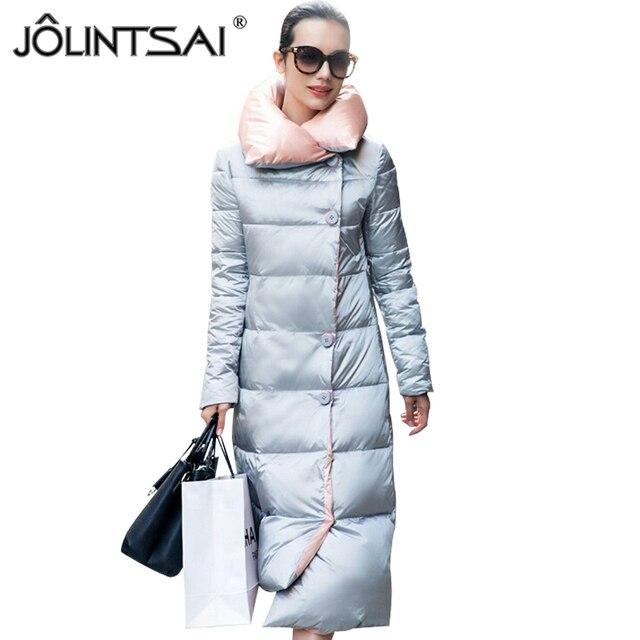 725c05ccb459 2016 New Long Women's Winter Jacket Down Warm Coat Female Euro Fashion Park  Solid Womens Winter