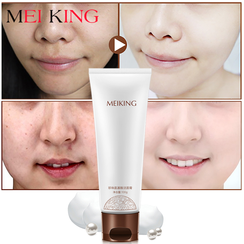 MEIKING Face Cleanser Facial Scrub Cleansing Acne Treatment Blackhead Remover Pimples Pores Amino Acid Extract Skin Washing Care цена