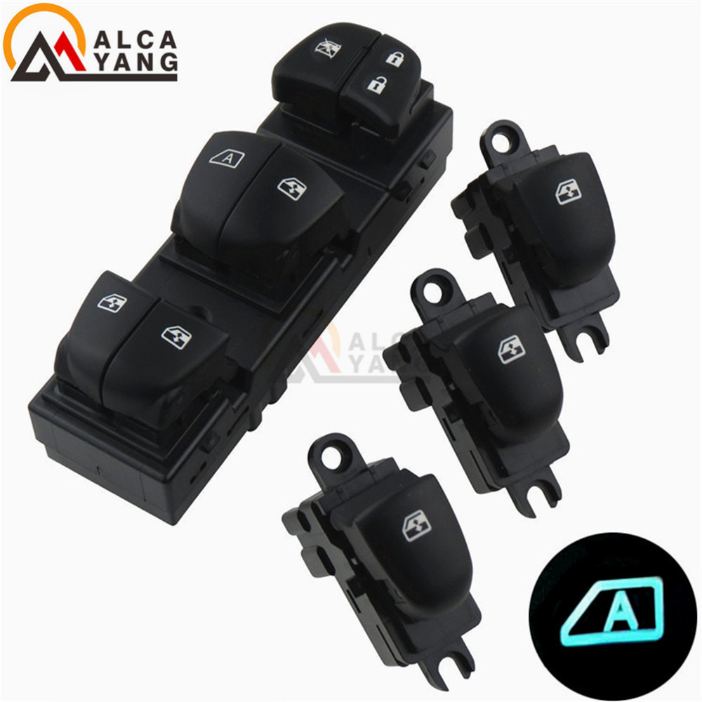 Image 5 - 1 Set/4PCS Red / White / Ice Blue Light For Nissan Qashqai/Altima/Sylphy/Tiida/X Trail Power Window Switch/Single Window switch-in Car Switches & Relays from Automobiles & Motorcycles