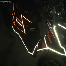 width 1.5CM diy Reflective universal motorbike sticker motorcycle stickers waterproof for whole body 45m/lot